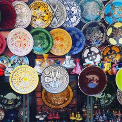 interesting colorful travel ceramics