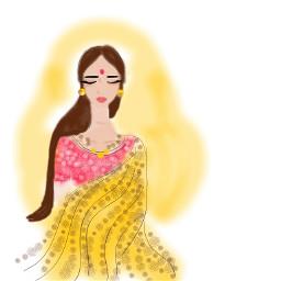 freetoedit drawing people girl indiangirl
