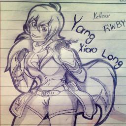 rwby rwby_yang yangxioalong draw drawing