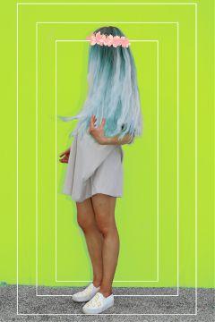 freetoedit bluehair greenscreen littlethings