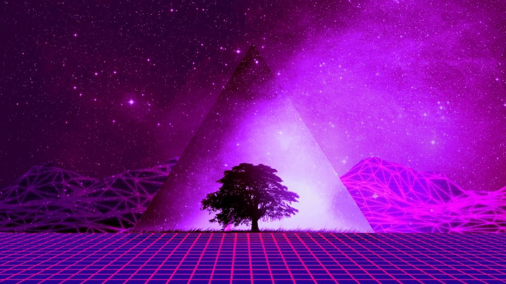 Wallpaper Freetoedit 80s Retro Violet